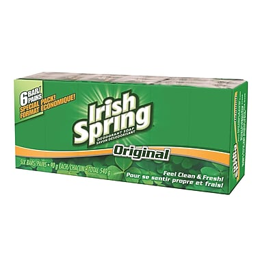 Irish Spring Soap Bars Original 6/90g, 6/pack, 12 Packs/Case