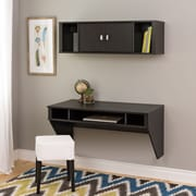 Prepac™ Designer Floating Desk & Hutch Set