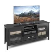 CorLivingMC – Meuble pour téléviseur Jackson TJK-603-B, pour téléviseurs jusqu'à 65 po, grain de bois noir