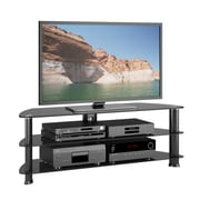 CorLivingMC – Meuble pour téléviseur jusqu'à 60 po TRL-501-T de la collection Laguna, noir satiné