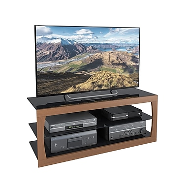 CorLiving™ TSL-123-T Santa Lana Faux Teak TV Stand for TVs up to 60