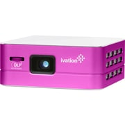 Ivation Pro3 IVPJPRO3 Portable Rechargeable Smart DLP Projectors, Purple