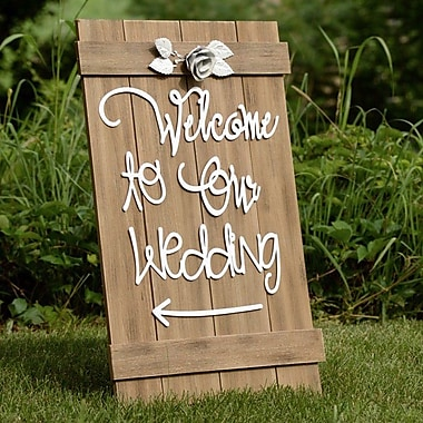 Boston International Welcome to Our Wedding Sign