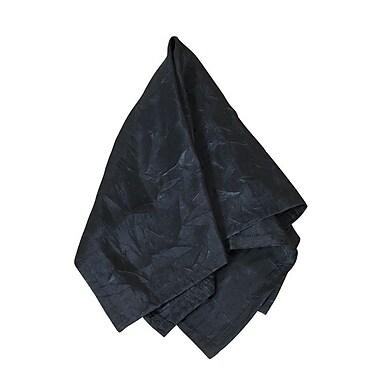 Saro Crushed Napkin (Set of 4); Black