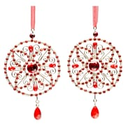 Selections by Chaumont Crystal Medallion Holiday Ornament (Set of 2)