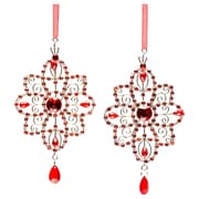 Selections by Chaumont Crystal Star Holiday Ornament (Set of 2)