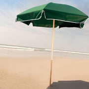 Frankford Umbrellas 6.5' Beach Umbrella; Forest Green