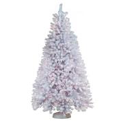 General Foam Plastics 7.5' White Artic Fir Artificial Christmas Tree w/ 900 Clear Lights