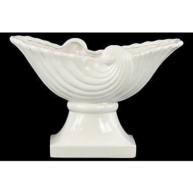 Urban Trends Ceramic Partial Seashell Bowl; White