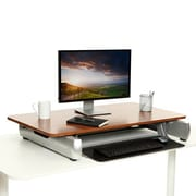 InMovement Standard Sit & Stand Desk, Dark Wood (IMDKDESKREADY01)