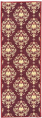sweet home stores Sweet Home Damask Red Area Rug