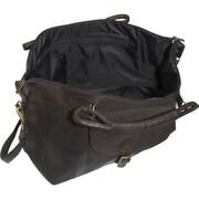David King 25'' Leather Top Zip Travel Duffel; Caf  / Dark Brown