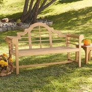 Wildon Home   Lutyens Teak Garden Bench