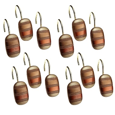 Sweet Home Collection Contempo Spice Bath Shower Curtain Hooks