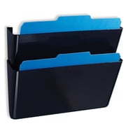 OFFICEMATE INTERNATIONAL CORP. Wall File, 13''x4-1/8''x7'', Letter, 2/BX, Black