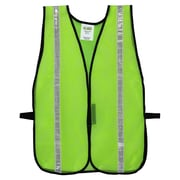 "Cordova V111W High Visibility Lime Mesh Safety Vest with 1"" Reflective Tape, One Size Fits All , 12/Pack"