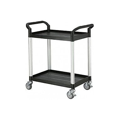 Modulab® Two Shelf Laboratory Cart, Small 850 x 480 x 950mm (L x W x H), Black and Silver
