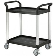 Modulab® Two Shelf Laboratory Cart, Black and Silver