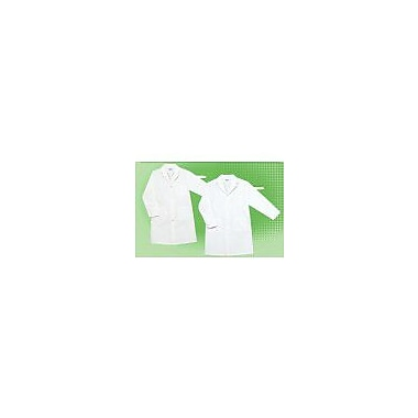 Grand Textiles Heavy Duty Cloth Lab Coat, White, Size 40 or Medium/Large, 2/Pack