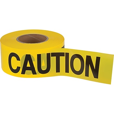 Barricade Tape, SEK397, Thickness - 1.5 mils, 12/Pack