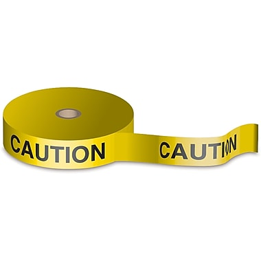 Bio-Degradable Flagging Tape, SAB490, Colour - Black on Yellow, 5/Pack
