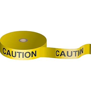 Bio-Degradable Flagging Tape, SAB491, Colour - Black on Yellow, 5/Pack