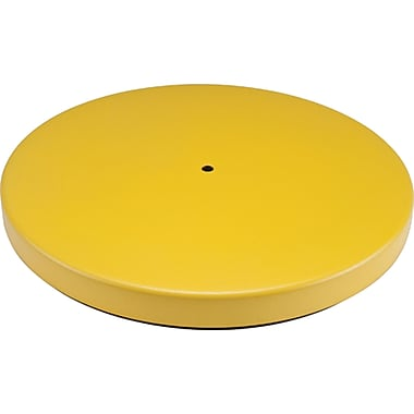 Build Your Own Crowd Control Barriers - Bases, SAS316, Style - Yellow, 2/Pack