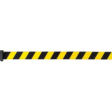 Build Your Own Crowd Control Barriers - Tape Cassettes, SEC365, Colour - Yellow and Black stripes, 3/Pack