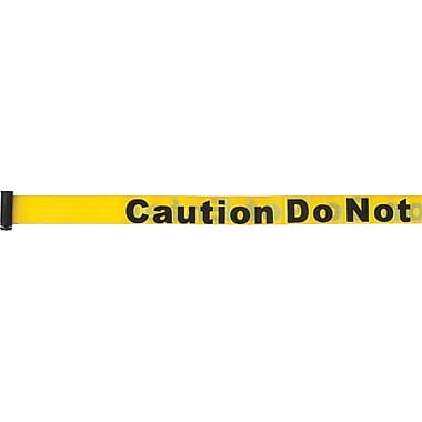 Build Your Own Crowd Control Barriers - Tape Cassettes, SEB179, Colour - Yellow w/ Caution do not enter, 3/Pack