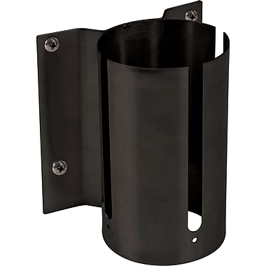 Build Your Own Crowd Control Barriers - Wall Mounts, SEC360, Style - Black, 6/Pack