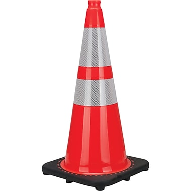 Premium Traffic Cones, SEB772, Wt. lbs. - 7, 3/Pack