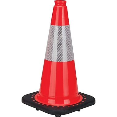 Premium Traffic Cones, SEB770, Wt. lbs. - 3.3, 6/Pack