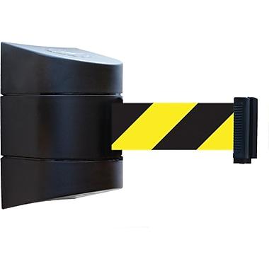 Tensabarrier® Wall Mounted Units, SEI733, Tape Colour - Black w/Yellow Diagonal Stripes