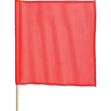 Traffic Safety Flags, SC140, Mesh Flag, 12/Pack