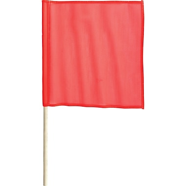 Traffic Safety Flags, SC141, Mesh Flag, 12/Pack
