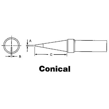 ET Series Tips for TEF891 Soldering Pencil, BW092, ET Series Tips for TEF891 Soldering Pencil, Conical, 12/Pack