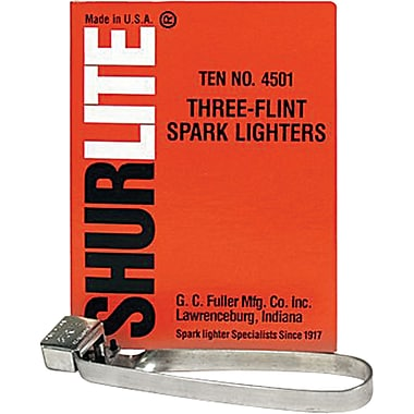 Three-Flint Lighters, 322-1240, 12/Pack