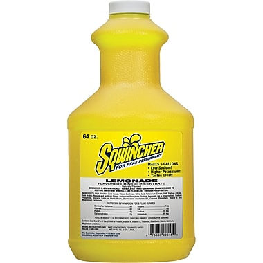 Sqwincher® Liquid Concentrate, SR933, Lemonade, 3/Pack