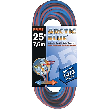 All-Weather Extension Cord - Arctic Blue™, XB894, 3-CONDUCTOR SJEOW, 300 V GROUNDING, Heavy-Duty, 2/Pack