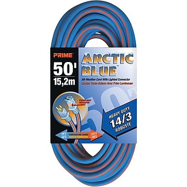 All-Weather Extension Cord - Arctic Blue™, XB895, 3-CONDUCTOR SJEOW, 300 V GROUNDING, Heavy-Duty
