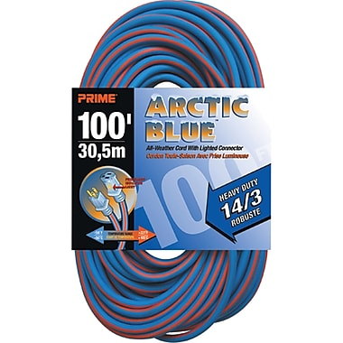 All-Weather Extension Cord - Arctic Blue™, XB896, 3-CONDUCTOR SJEOW, 300 V GROUNDING, Heavy-Duty