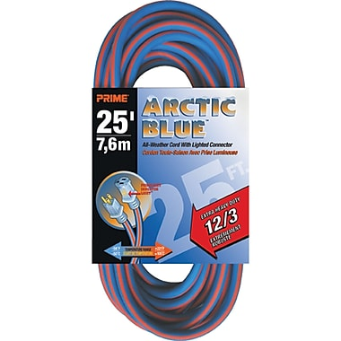 All-Weather Extension Cord - Arctic Blue™, XB897, 3-CONDUCTOR SJEOW, 300 V GROUNDING - EXTRA HEAVY-DUTY, 2/Pack