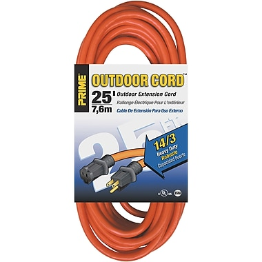 Outdoor Vinyl Extension Cord, 3/Pack