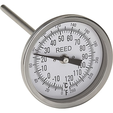 Bi-Metal Thermometers, IA270, 0 to 250 degrees F/-20 to 120 degrees C, 6