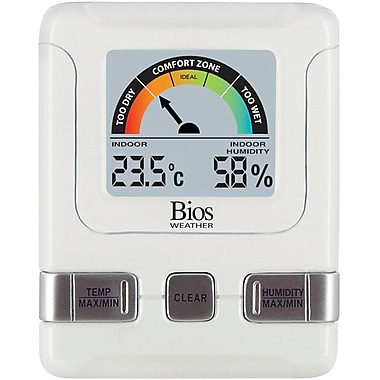 Indoor Hygrometers with Bios Comfort Scale, 4/Pack