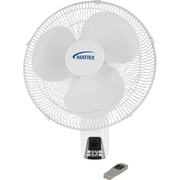 Ventilateurs muraux oscillants de 16 po, 2/paquet