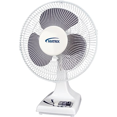 Oscillating Desk Fans with Push Buttons, EA305, 3/Pack