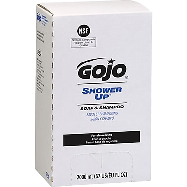 GOJO® Shower Up® Soap & Shampoo, JA372, 2000 ml, 3/Pack