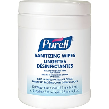 PURELL® Sanitizing Wipes, JD602, 4/Pack