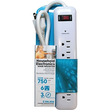 Surge Protector, XC299, Joules - 750, 6/Pack